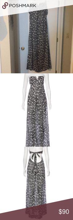 Diane Von Furstenberg Krystal Dress Animal print dress strapless maxi worn once Diane Von Furstenberg Dresses Maxi