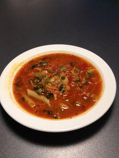 Stærk suppe med pasta