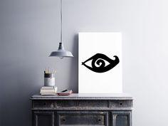 """Placa decorativa """"Olho""""  Temos quadros com moldura e vidro protetor e placas decorativas em MDF.  Visite nossa loja e conheça nossos diversos modelos.  Loja virtual: www.arteemposter.com.br  Facebook: fb.com/arteemposter  Instagram: instagram.com/rogergon1975  #placa #adesivo #poster #quadro #vidro #parede #moldura"""
