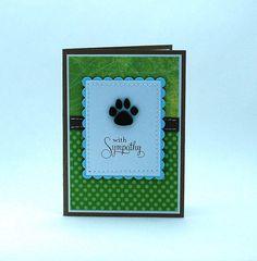 Loss of Pet Card, Dog Sympathy Card, Dog Paw Print