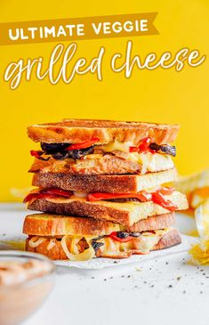 Fill up on savory roasted veggies with this Gouda Grilled Cheese. Stuffed with pepper, onion, and mushrooms and perfect for dipping in toasty sauce! #sandwich #lunch #vegetarian #gouda Top Recipes, Beef Recipes, Dinner Recipes, Healthy Recipes On A Budget, Clean Eating Recipes, Budget Meals, Grilled Vegetables, Veggies, Vegetarian Sandwich Recipes