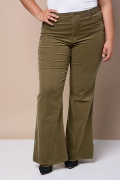 womens plus size corduroy pants - Pi Pants