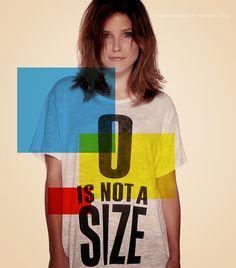 Zero is not a size- brooke;one tree hill