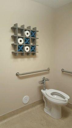 Bathroom Tic Tac Toe Toilet paper holder Toilet paper Tic