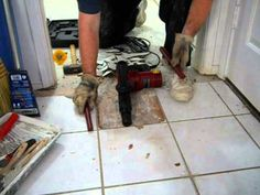 How to Remove Excess Dried Mortar or Grout From Ceramic Tile Floors ...