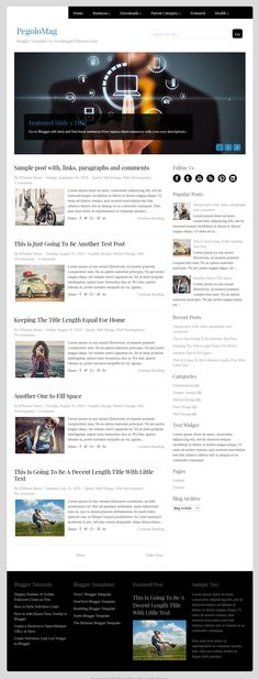 PegoloMag Blogger Template:  PegoloMag is a minimal, 2 columns free blogger theme with a left sidebar and 4 columns footer widgets area. PegoloMag Blogger template has a featured posts slider, top navigation menu, auto post summaries, social and post share buttons, Google web fonts, related posts with thumbnails and more.  https://newbloggerthemes.com/pegolomag-blogger-template/