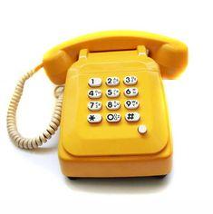 Téléphone Rétro socotel jaune Picsou | L' e-shop de HumGum!