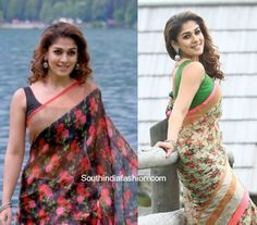 Nayantharas Floral Sarees in Babu Bangaram photo