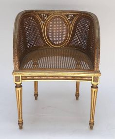 ... Louis XVI Style Cane Chair 2 ...