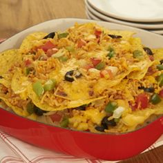 You've found the perfect game day snack. Our Deluxe Nacho Platter recipe piles on flavor to keep you cheering for the home team until the final buzzer. Recipes Appetizers And Snacks, Easy Appetizer Recipes, Appetizers For Party, Veggie Recipes, Mexican Food Recipes, Cooking Recipes, Healthy Recipes, Ethnic Recipes, Veggie Meals
