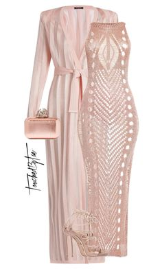 """Untitled #512"" by iamtaecarter ❤ liked on Polyvore featuring Balmain, Dsquared2 and Jimmy Choo"