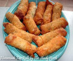 Homemade Egg Rolls #recipe #cabbage #dinner #chicken #pork #shrimp