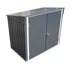 Duramax 5 x 3 ft Waste Bin Store - Anthracite Grey/Off White UK Secure Storage, Tool Storage, Storage Bins, Storage Spaces, Locker Storage, Storage Ideas, Garbage Recycling, Recycling Bins, Cheap Home Decor