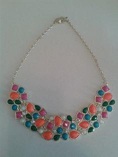 Colar Pedras Mix de Cores -- Acesse nosso site: http://debbysmendes.wix.com/sweetneon