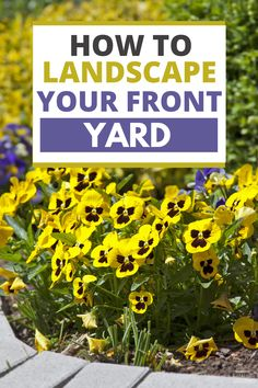 You are trying to find out how to landscape your front yard without breaking the bank. Here are 7 helpful tips to get your landscaping project started. Front Yard Landscaping Pictures, Garden Landscaping, Summer Diy, Summer Crafts, Book Club Snacks, Home Vegetable Garden, Landscape Plans, Backyard Games, Family Activities