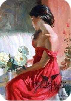 девушка в красном - Схемы вышивки - Ксиничка - Авторы - Портал «Вышивка крестом»