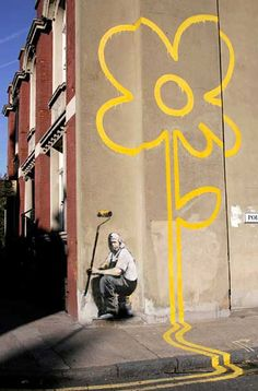 I am the one who paints outside the lines. [Mello Yello by Bansky (Painting Outside The Lines) - London]