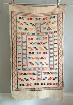 Moroccan Wool Rug/ Wall Art by HejaHome on Etsy