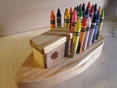 Woodworking For Kids Quick crayon holder. Woodworking Projects For Kids, Woodworking Books, Woodworking Joints, Woodworking Workbench, Woodworking Furniture, Woodworking Classes, Woodworking Tutorials, Intarsia Woodworking, Woodworking Basics