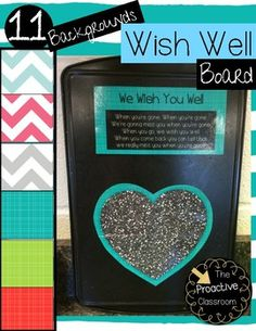 This product includes 11 designs of Wish Well boards! Set Up Instructions:Choose one design for your Wish Well board and print and laminate that page. Cut out the Wish Well song rectangle and the heart and attach both to a magnetic board, pizza pan, or your white board.