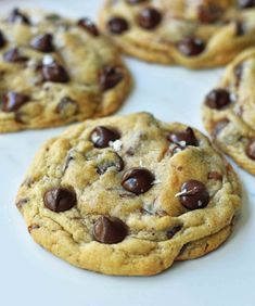 Charmina's Chocolate Chip Cookies Renee's recipe that doesn't yield flat cookies!