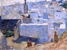 Town in Morocco / Theo van Rysselberghe - 1888