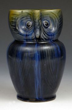 Denby Pottery, Electric Blue Owl Jug, c.1925.