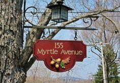 Myrtle Avenue House Sign / Danthonia Designs