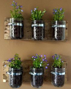masonry jars on my deck rails.... Maybe???