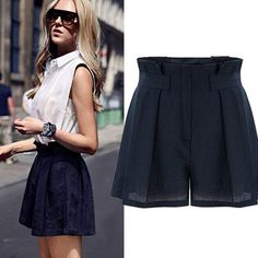 New Summer Style Women Skirts Shorts Casual Zipper Solid Loose Linen High Waist Female Shorts Plus Size