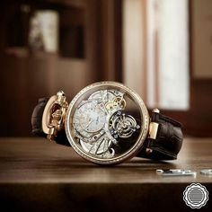 """""""The chronometric improvements obtained by the innovative architecture of the tourbillon carriage are compounded by those originating from a resolutely new…"""""""