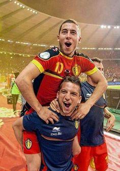 Eden Hazard and Dries Mertens