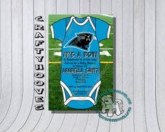 Carolina Panthers Football Baby Shower  U-Print by CraftyHooves