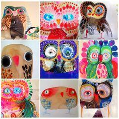 Class Art Projects, Classroom Art Projects, Art Classroom, Owl Artwork, Art N Craft, Art Lessons Elementary, Autumn Art, Watercolor Bird, Oeuvre D'art