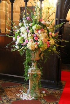 Cherry and Almond Blossom, White Delphiniums, Tuberosa, Antirhinnums, Stocks, Hydrangeas, Roses and Peonies