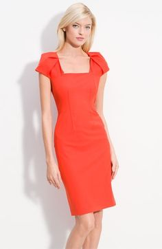 Rachel Roy Origami Cap Sleeve Fitted Dress | Nordstrom - StyleSays