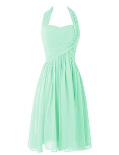 Dresstells™ Women's Short Halter Chiffon Homecoming Dress Bridesmaid Dress Mint Size 6 Dresstells http://www.amazon.com/dp/B00UOE3UZO/ref=cm_sw_r_pi_dp_i.-wvb00W0QGP