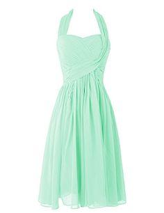 Dresstells™ Women's Short Halter Chiffon Homecoming Dress Bridesmaid Dress Mint Size 6 Dresstells http://www.amazon.com/dp/B00UOE3UZO/ref=cm_sw_r_pi_dp_i.-wvb00W0QGP