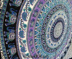 Deer Elephant tapestry,Tapestry Wall Hanging,Mandala Tapestries, Mandala Wall Art, Hippie Wall Hanging, Indian Tapestry, Bohemian Tapestry