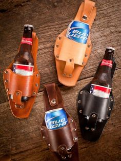 Forget coozie! I want a beer holster!