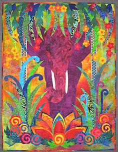"""""""There's an Elephant in my Garden is inspired by the Art Deco period. Susanpm.com"""