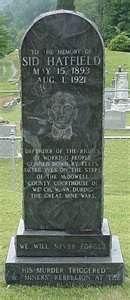 Sid Hatfield's tombstone