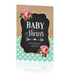 Babyshower uitnodiging