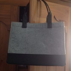 Grey flannel tote bath and body works Soft and sparkly little grey flannel tote. Perfect as a lunch bag, makeup tote or to make a nice gift bag for that special someone! Bags Totes