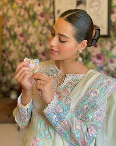 Ayeza Khan, Iqra Aziz, Mawra Hocane, Sarah Khan & Falak Shabbir Celebrates First Day of Eid ul Adha Pakistani Dress Design, Pakistani Dresses, Iqra Aziz, Ayeza Khan, Pakistani Actress, Designer Collection, Indian Wear, Frocks, Actors & Actresses