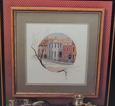 P Buckley Moss Grandpa's House Cross Stitch Pattern Leaflet 114 June Grigg OOP  #PBuckleyMoss #Frame