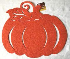 "Die Cuts 17"" X 15"" Pumpkin or 16"" Sunflower Felt Decoration Placemats Wreaths | eBay"