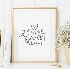 Digitaldruck - Poster, Spruch, Kunstdruck: Home sweet home - ein Designerstück von Tales-by-Jen bei DaWanda (Cool Crafts Ideas)