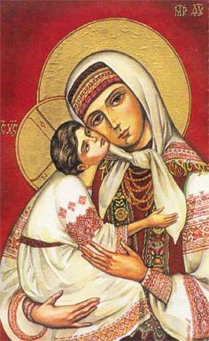 Blessed Mother Mary in Ukranian style clothing :: Santíssima Virgem em roupas ucranianas