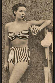 Vintage Striped Bikini...love it!